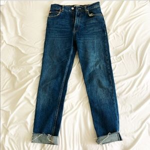 Zara high waist straight jeans